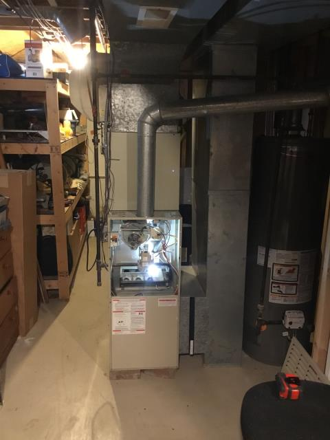 Pickerington, OH - Performed Our Special Tune-Up & Safety Checkout On Carrier  Gas Furnace To Keep Furnace Running Efficiently For The Winter Season