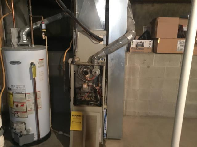 Canal Winchester, OH - Performed Our Special Tune-Up & Safety Checkout On Carrier  Gas Furnace To Keep Furnace Running Efficiently For The Winter Season