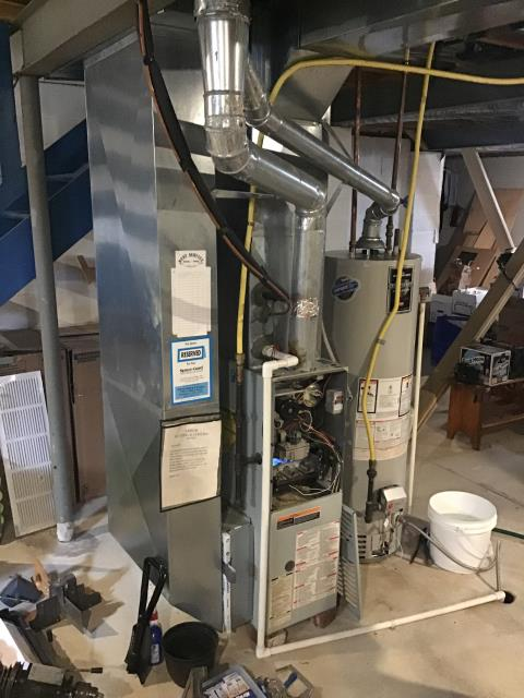 Columbus, OH - Tuneup and safety check on Bryant furnace. Pulled and cleaned flame sensor and changed filter. Customer requested quote for new system due to age of unit. Furnace is working well at this time.