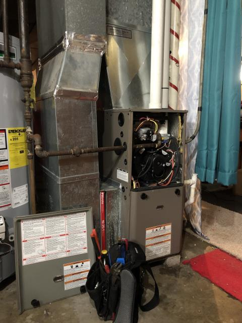 Lancaster, OH - I Replaced the  OEM 90% Furnace Inducer Motor on a York furnace.