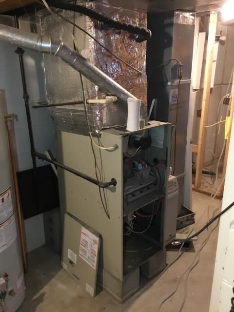 Lancaster, OH - I found the fuse blown on the furnace board caused by the thermostat change out. I replaced fuse, the Carrier furnace is operational.