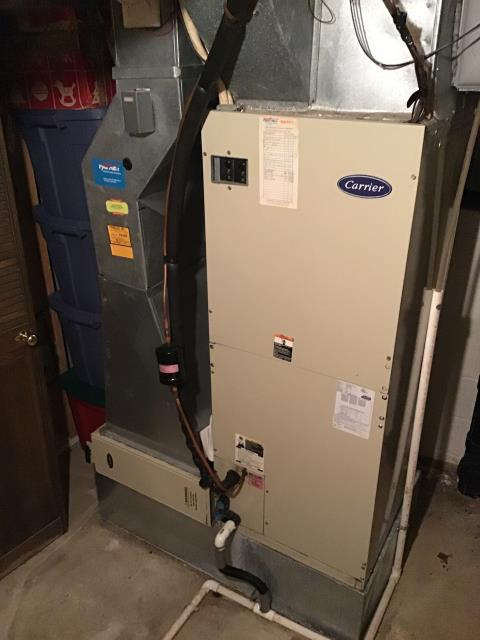 Reynoldsburg, OH - Furnace tuneup and safety inspection on Carrier furnace. All checks are good and the equipment is running properly.