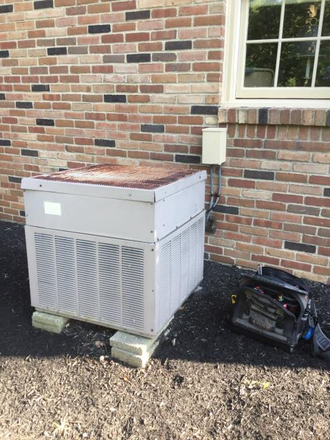 Westerville, OH - Wearing mask and gloves and keep activity in the home to a minimum, I Performed A/C tune-up on a 2007 G.E. WEATHERTRON Heat pump.