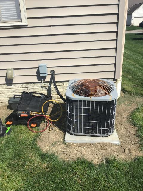 Pickerington, OH - Wearing mask and gloves and keep activity in the home to a minimum, I Performed a Air Conditioner tune-up on a Carrier unit . System is now running a peak performance