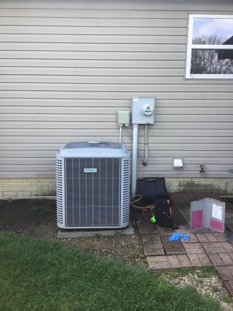 Reynoldsburg, OH - Wearing mask and gloves and keep activity in the home to a minimum, I Performed a Air Conditioner tune-up on a 2009 Comfortmaker unit . System is now running a peak performance