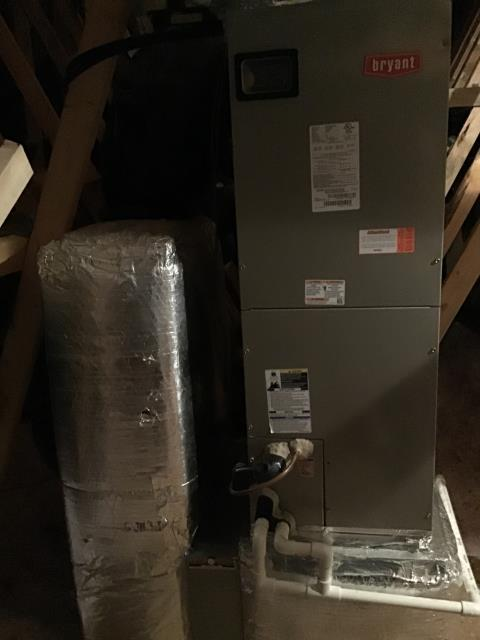 New Albany, OH - Running a diagnostic check on a 2014 Bryant Electric Furnace. Diagnosis: compressor failed, needs replaced. Ordering part and returning to replace.