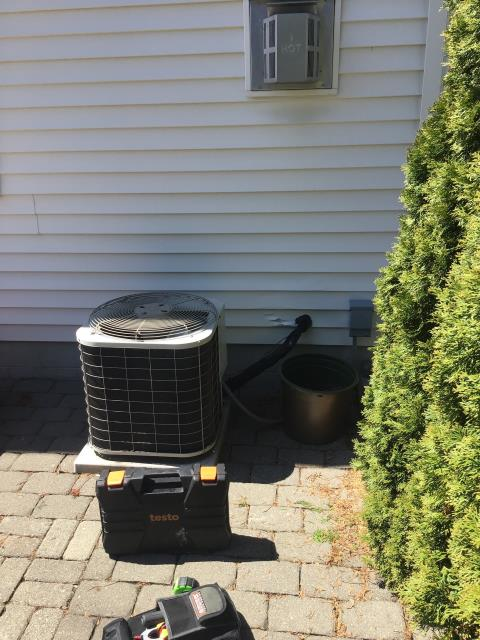 New Albany, OH - Wearing mask and gloves and keep activity in the home to a minimum, I Performed a Air Conditioner tune-up on a Bryant unit . System is now running at peak performance