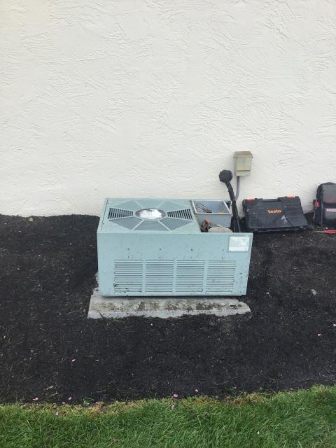 Groveport, OH - Tuneup on Rheem AC. System is working, but is old. Recommend replacement in the near future as older refrigerant is being phased out.