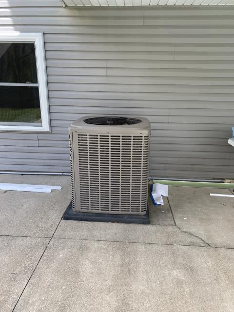 Carroll, OH - Gave customer a estimate to move their Heat pump 25 ft