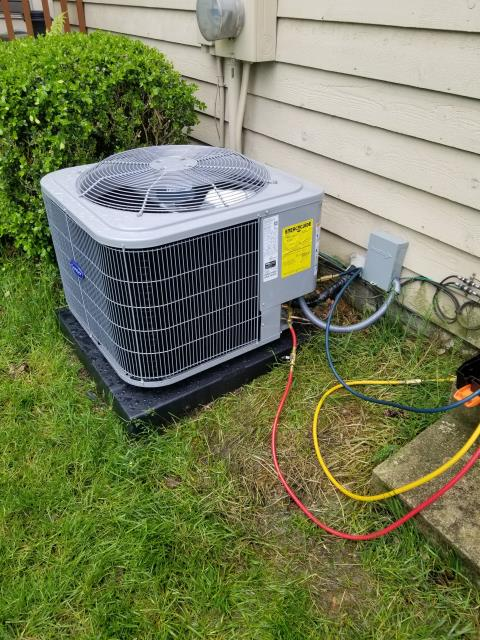 New Albany, OH - Tuneup on Carrier AC. All checks are good at this time.