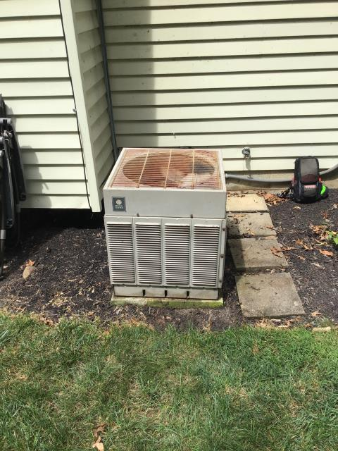 Canal Winchester, OH - Furnace is making a rattling noise. Blower wheel dirty, but bearing seem  within range, but blower starts with a drag. Compressor is not kicking on at all. Unit is 40 years old, needs replaced. Customer wants estimate