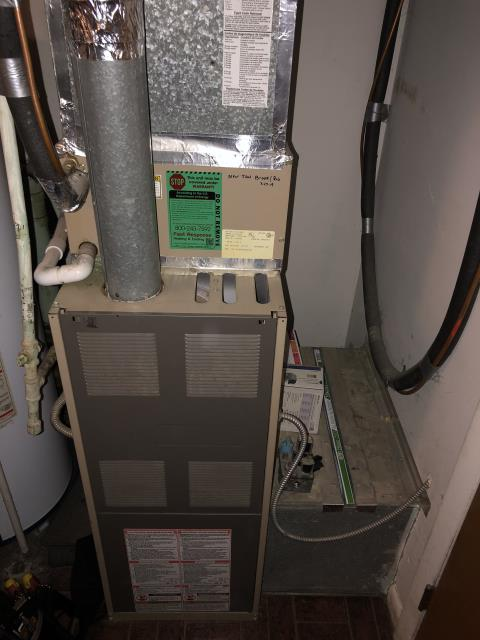 """Reynoldsburg, OH - I provided an estimate for a new Aprilaire High Efficiency 4"""" Air Cleaner along with a new iWave-R Air Purifier"""