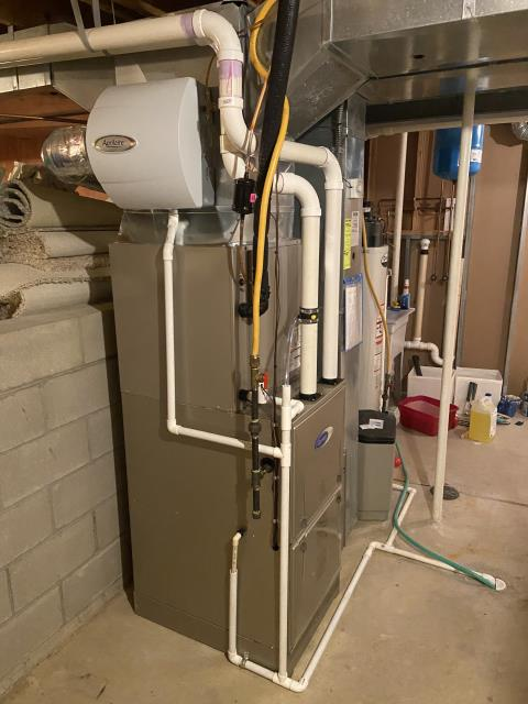 Powell, OH - I  installed a new Carrier 96% Two-Stage 80,000 BTU Gas Furnace a long with a new Carrier up to 17 SEER 2 STAGE 4 Ton Air Conditioner