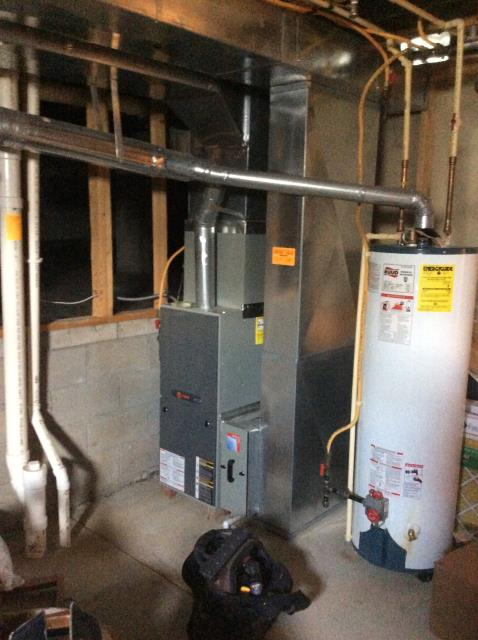 Blacklick, OH - I completed the service maintenance agreement fall tune up on a Trane gas furnace.  I visually inspected the unit.  i cleaned the flame sensor.   Checked voltages, amps and pressures.  Completed combustion analysis.  Cycled and monitored system.  Operating normally at this time.