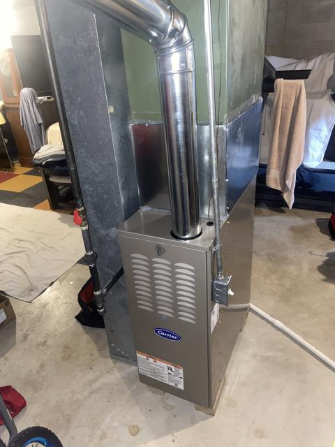 Powell, OH - I came out today to install a new Carrier furnace for the customer. Installed and cycled on to ensure the system is fully operational.
