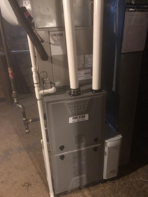 Lancaster, OH - I performed a callback on an install of a 2020 Five Star gas furnace due to the humidifier leaking.  I pulled the piercing valve and added the shark bite and tested no leaks.