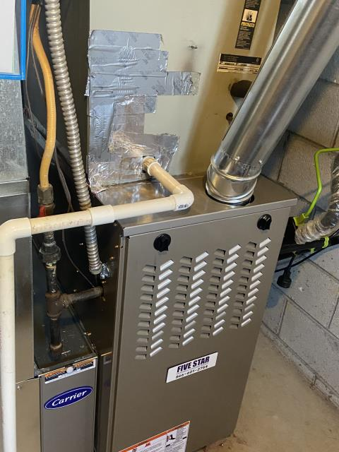 """Canal Winchester, OH - I performed an install inspection on a Five Star 80% 45,000 BTU Gas Furnace 3T 17"""""""