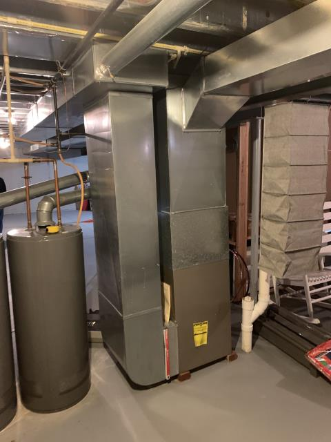 Pataskala, OH - Found that the intake needs ran outside and Carrier 96% 100,000 BTU Gas Furnace furnace needs leveled. We will be back out to perform repairs.