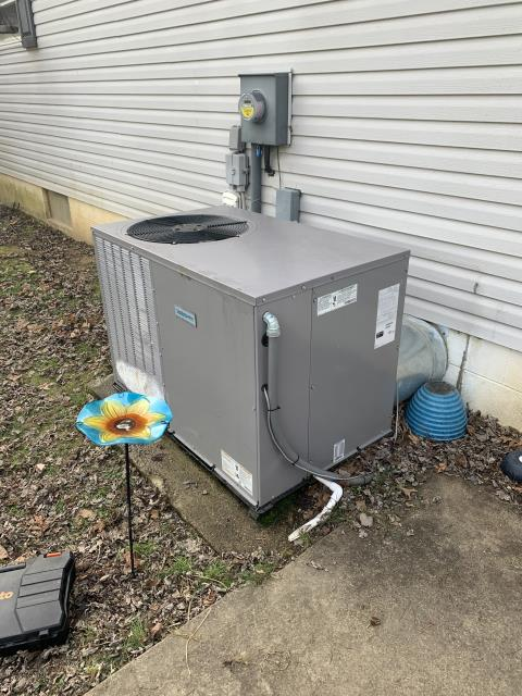 Lancaster, OH - I found that the system is going into defrost properly. Found that once the back up heat comes on, it will give the heat pump the opportunity to fully shut down and melt the ice build up.