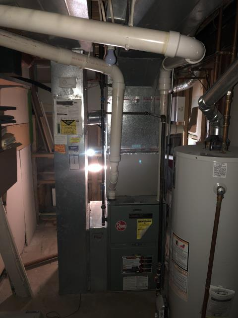 Westerville, OH - I cut out a 3 inch pipe and relocated it to the side of the house, covered old opening and ran furnace to make sure it would drain properly. Five Star 96% 80,000 BTU Gas Furnace is performing upon departure.