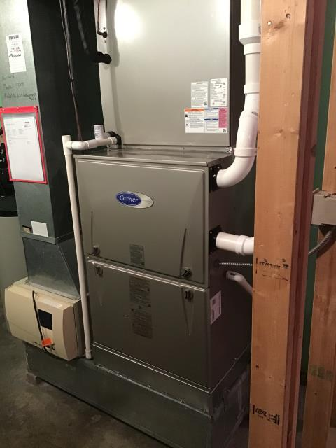 Carroll, OH - I performed a tune up on a Carrier Gas Furnace 96% Variable Two-Stage 120,000 BTU furnace. I found that the humidifier pad needs replaced. Everything else is operating within manufacturers specifications at this time.