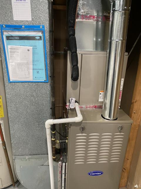 Whitehall, OH - During a tune up on a Five Star 80% 45,000 BTU Gas Furnace, I replaced old filter and pulled and cleaned the flame sensor. The furnace is operating within manufacturers specifications at this time.