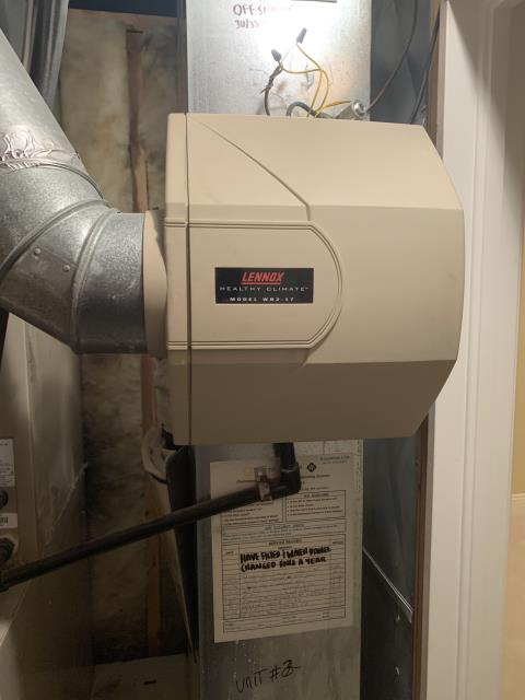 Blacklick, OH -  I found that the humidifier is not working due to the solenoid and water valve are bad. Customer to replace humidifier.
