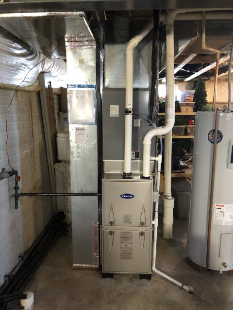 Groveport, OH - I installed a new media cabinet and I removed the coil adaptor to help with high static. Carrier 96% 80,000 BTU Gas Furnace is working properly at this time.