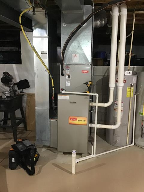 Blacklick, OH - During a tune up on a 2006 Bryant gas furnace, I found that both the inducer capacitor and the blower capacitor were bad and need replaced. Customer wants to hold off on replacement and may replace furnace next season. Furnace is running at departure.