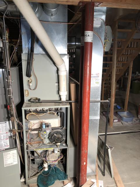 Sunbury, OH - I found that the CO levels are low and safe and not coming into the home. Customer would like to wait until spring to replace 1994 Ruud propane system. Unit is operating as expected at this time.