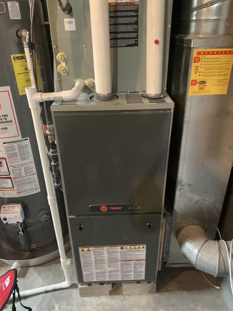 New Albany, OH - I performed a tune up on a 2012 Trane gas furnace. All readings are within manufacturers specifications at this time.