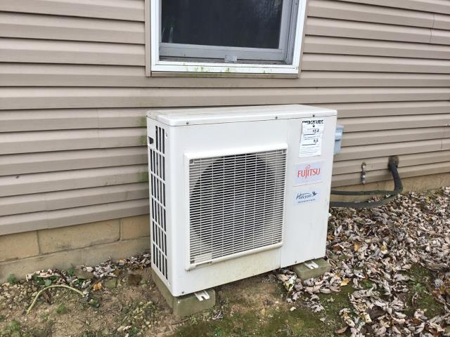 Pataskala, OH - I found indoor head blower wheel covered in mold and I recommend iWave air purifier. There are no wires attached from terminal to ground. Compressor replacements on mini-splits are risky, I recommend replacement instead.