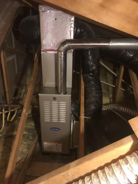 Gahanna, OH - I performed a tune up on a Carrier gas furnace. Everything checked out within specs. System is operational upon departure.