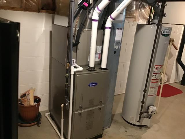 Dublin, OH - During a tune up on a Carrier 96% 60,000 BTU Gas Furnace, I cleaned the flame sensor. After performing all tests, I found all readings are within manufacturers specifications. System is operating at time of departure.