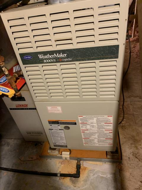 Westerville, OH - I completed a tune up on a Carrier gas furnace. I informed customer that the inducer motor bearings were starting to go bad and will need replaced in the near future, also recommended a replacement ignitor as well. Customer declined to repair the issues at this time. Replaced 2 thermostats in the home, a Honeywell T10 and a smart thermostat for the attic.