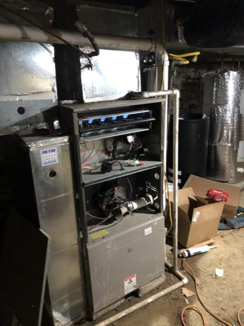 Powell, OH - I performed a diagnostic on a Goodman gas furnace.  I pulled and cleaned the flame sensor.  I also installed a new Ecobee thermostat provided by the customer.  Everything was functional and operating according to manufacturer's specifications upon departure.