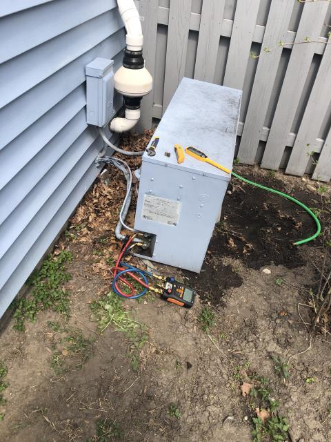 Hilliard, OH - I completed a diagnostic on an Air Conditioner. I determined that the coil had bent fins and was dirty. Cleaned the coil and fixed the fins, System still not operating as intended. Gave repair and replacement options to customer, Install  scheduled for following day.
