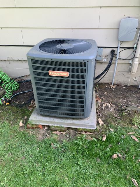 Lancaster, OH - During a leak search on a Goodman heat pump, I found a leak at the condenser coil. I sent the customer a quote for both repair and replacement. The customer will let us know how they would like to proceed.