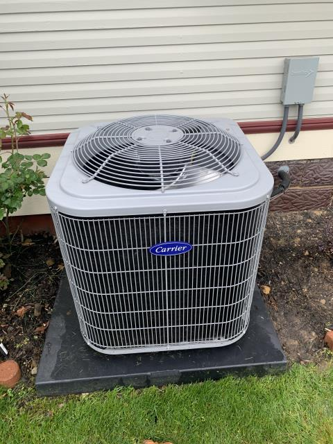 Lancaster, OH - I completed Scheduled tune-up & safety check for  CARRIER-13 SEER/2.5 TON AIR CONDITIONER. I replaced High Voltage Electro-Magnetic Contactor and repaired wire also. Unit was Operating normally at time of departure.