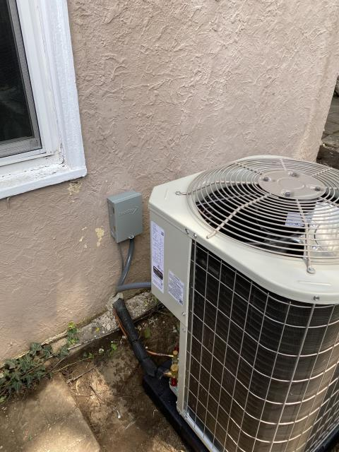 Columbus, OH - I completed the scheduled maintenance agreement cooling tune up on a Five Star 13 SEER 3 Ton Air Conditioner .  I visually inspected the unit.  Checked voltages, amps and pressures. I inspected the evaporator coil.  I checked the temperature difference across the coil. Checked refrigerant charge, voltages and amps.  I rinsed the condenser coils with water. I replaced dirty filter with Customer provided filter. Cycled and monitored system.  All operating normally at this time.
