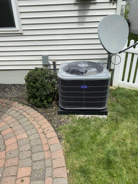New Albany, OH - I completed Installation Inspection for Carrier 13SEER 3 TON Air Conditioner and removal of previous equipment Bryant Cooling System.