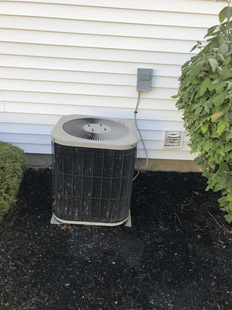 Groveport, OH - I performed Scheduled Maintenance on Carrier 13 SEER 2 TON Air Conditioner. I visually inspected the unit.  Checked voltages, amps and pressures. I inspected the evaporator coil.  I checked the temperature difference across the coil. Checked refrigerant charge, voltages and amps.  I rinsed the condenser coils with water.  Cycled and monitored system.  All operating normally at this time.