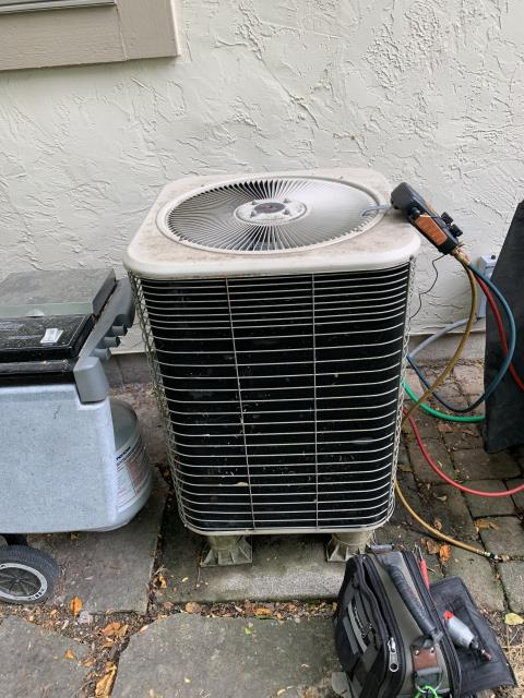 Dublin, OH - I performed diagnostic service call on Lennox Air Conditioner. I determined that Unit had debris build up. I rinsed and cleared debris. Cycled and monitored the System. Operating as Intended at time of departure.