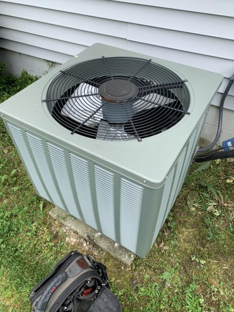Carroll, OH - I performed diagnostic on Rheem Air Conditioner. I determined that the Unit was completely out of refrigerant. The customer determined that they were over the continuous repairs and wants to replace Unit. I scheduled customer for replacement on Friday.