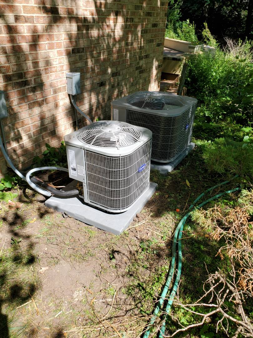 New carrier air conditioning installation
