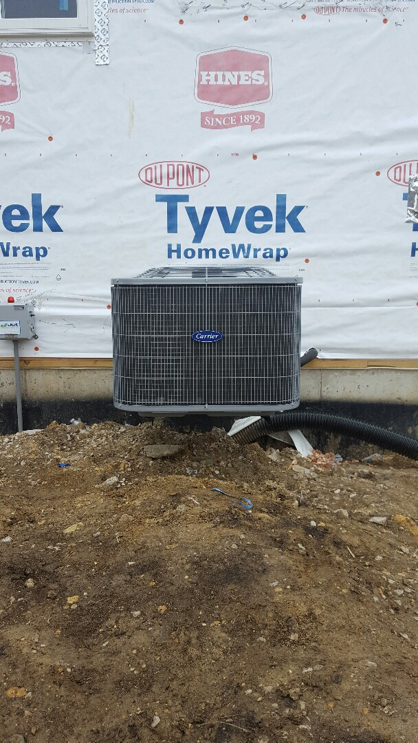 Yorkville, IL - New carrier air conditioning install