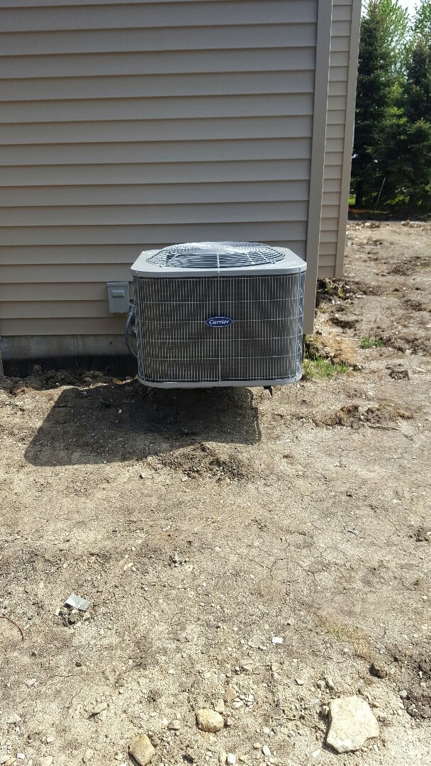 Oswego, IL - New carrier air conditioning installation