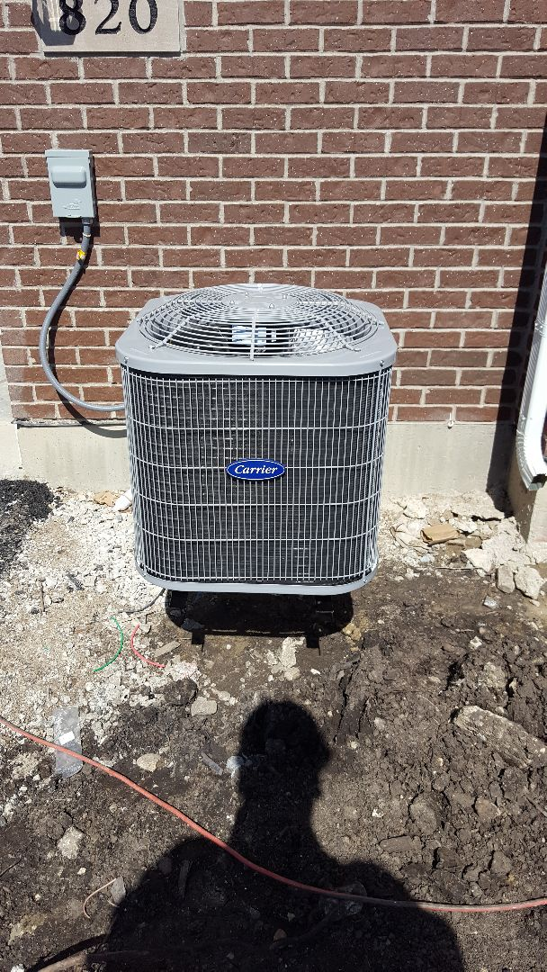 Naperville, IL - New carrier air conditioning installation