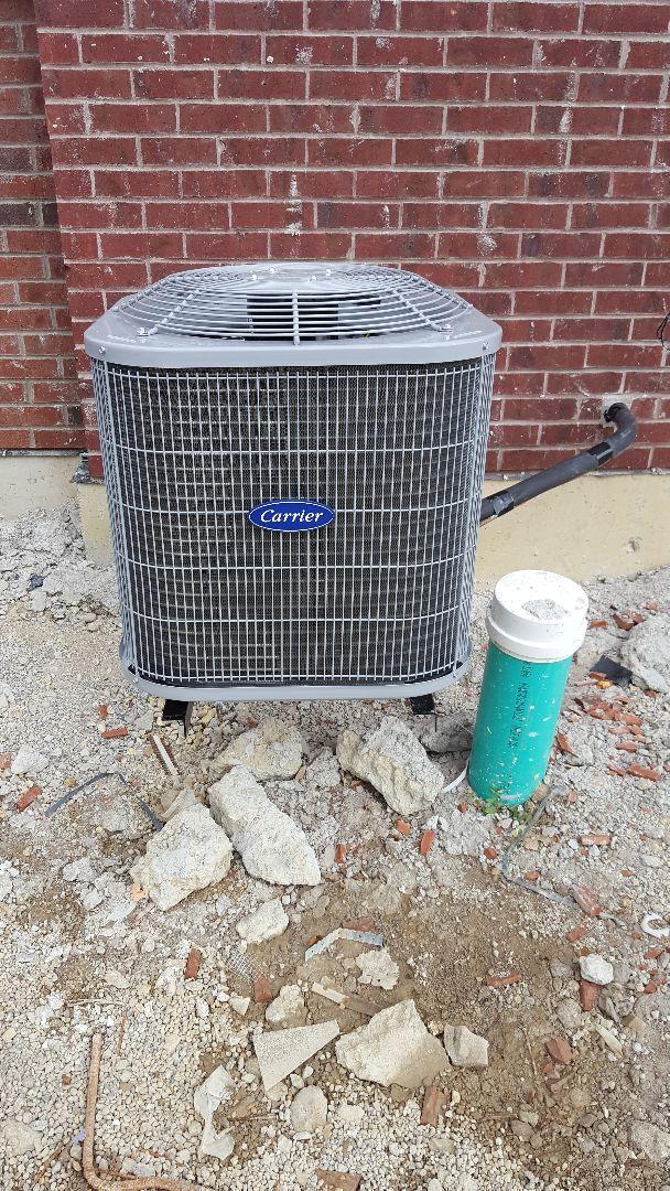 Schaumburg, IL - New carrier air conditioning installation