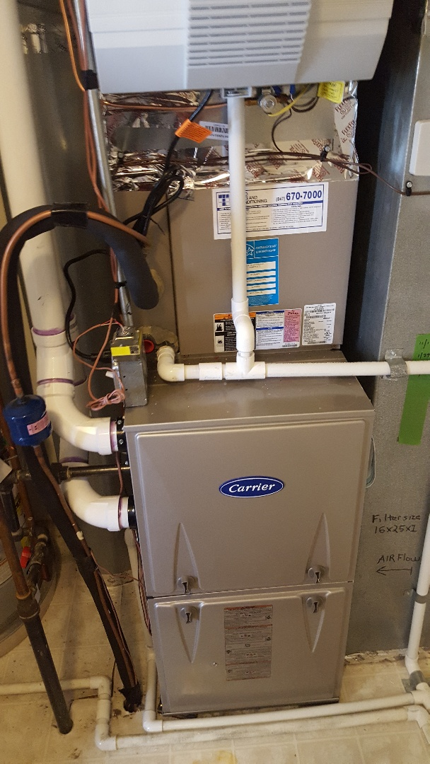Winfield, IL - Furnace change out